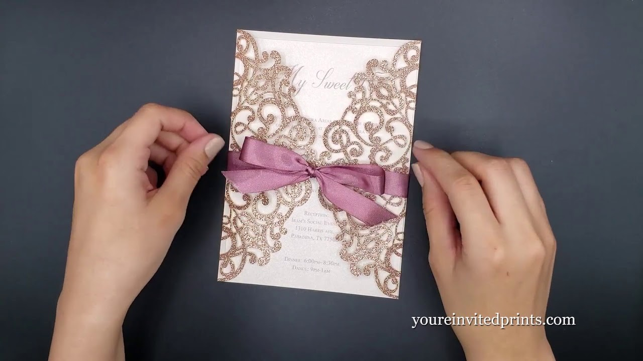 How To Tie a Bow On An Invitation - The Non-Professional Way - For Beginners - The Easy Way