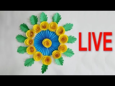 LIVE, DIY Paper Flowers Wall Hanging - How to Make Paper Flowers - Paper Flowers (Live Ep 02)