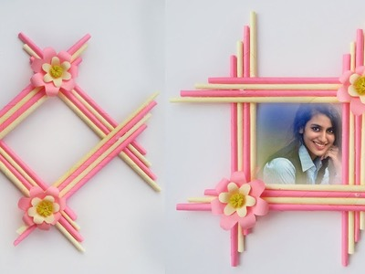 Make Awesome Photo Frame with Paper Sticks #  DIY Paper Photo Frame Making Easy tutorial