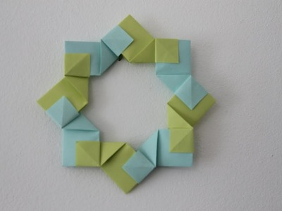 Origami decoration ring by Rita Foelker