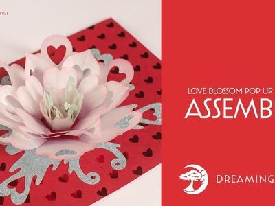 SVG File - Love Blossom Pop Up Card - Assembly Tutorial