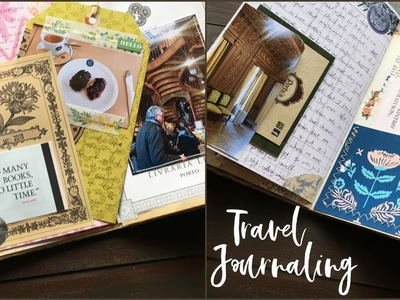 Travel journal with me | Junk Journaling | How to use Junk Journal | Porto, Portugal