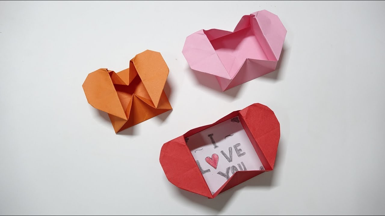 Tutorials Origami Heart Box Envelope I Love You