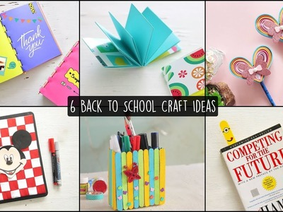 6 Easy Back to School Craft Ideas