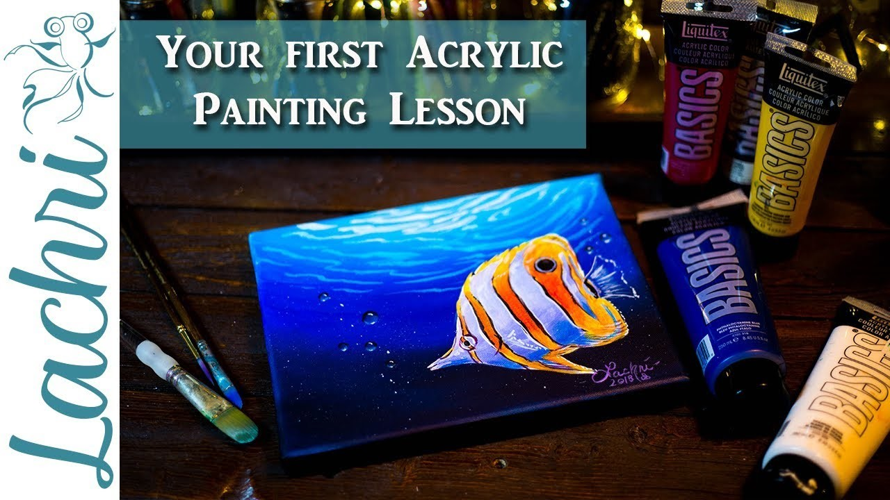 Acrylic Painting for Beginners - Lachri painting step by step