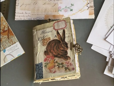 Craft with me | making a mini Easter journal with magazine pages