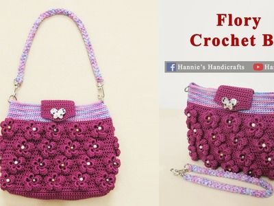 Crochet || Merajut Flory Crochet Bag || Mini Crochet Bag