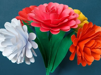 DIY: Beautiful Paper Flowers - How to Make Paper Flowers  - Handmade Paper Crafts