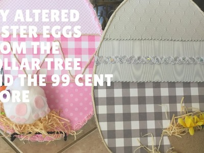 Dollar Tree And 99 Cent Store Altered Eggs DIY