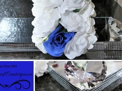 Dollar Tree DIY | Double Sided Mirrored Centerpiece | Tutorial | How To