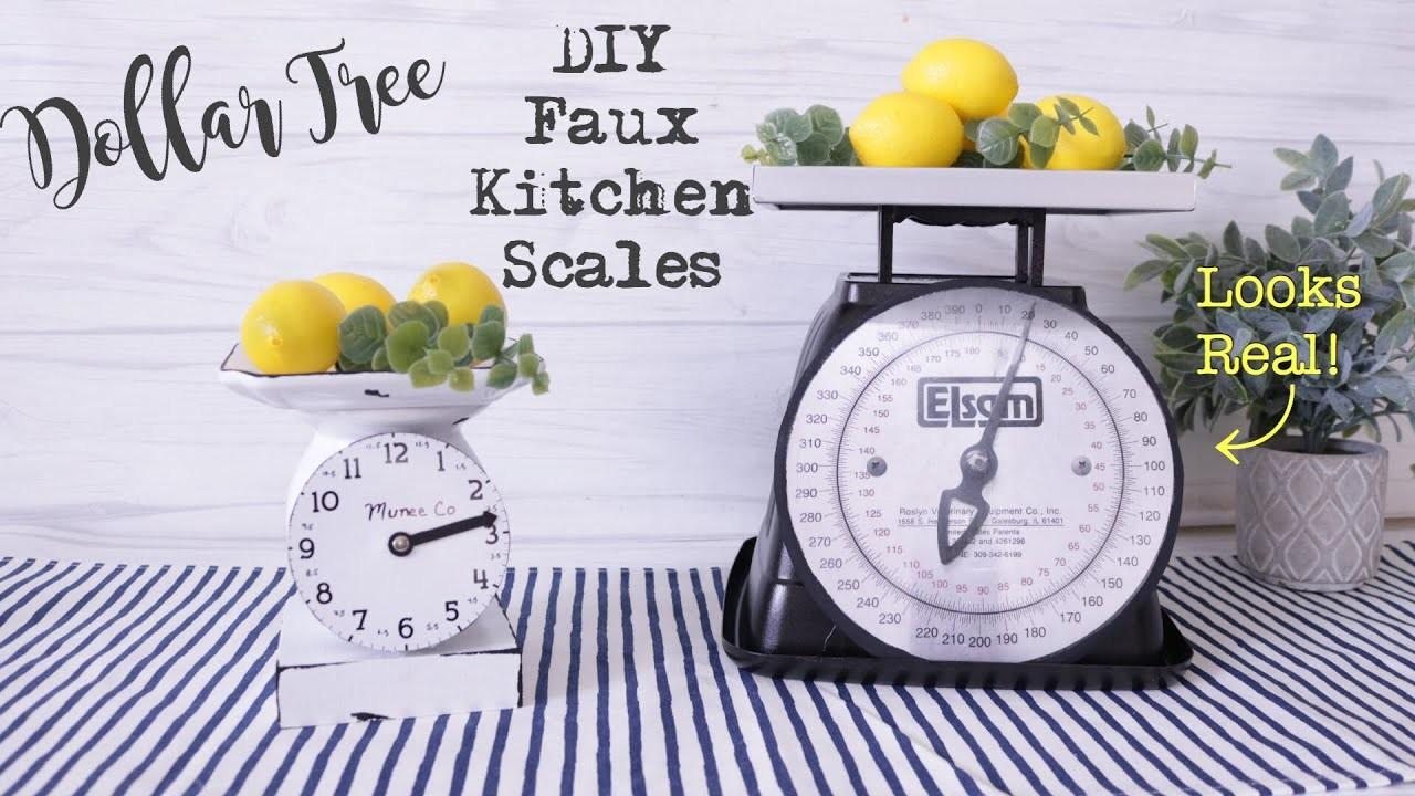 Dollar Tree Diy Farmhouse Scale Farmhouse Kitchen Scale