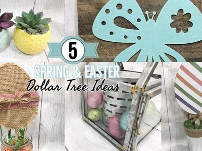 DOLLAR TREE DIYS | SPRING & EASTER DECOR | 5 EASY DOLLAR TREE IDEAS