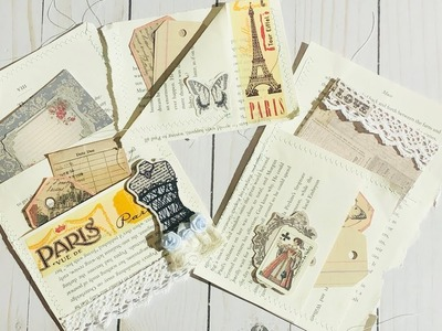 Easy Book Page Pockets for your Journal