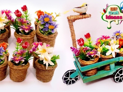 Flower Pot Makeing | Flower pots tricycle | room decor ideas | ♻️ Best out of waste | Arush crafts