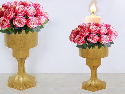 Flower vase making at home. Water Pot flower vase