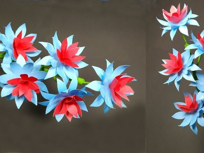 Handcraft Flower: How to Make Paper Stick Flower Easy Making Idea || Jarine's Crafty Creation