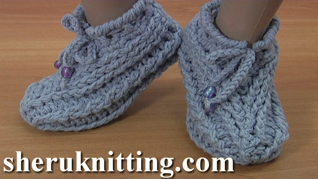 How to Crochet Sock Tutorial 172 靴下をかぎ針編みする方法