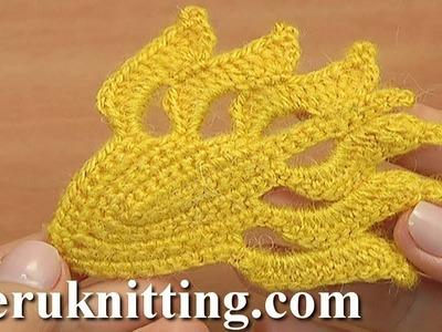How to Do Crochet Leaf Tutorial 38 Gehäkeltes Blatt