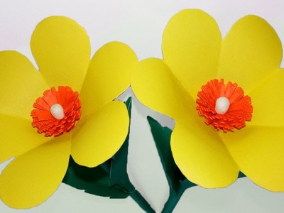 How to make paper flowers easy - Flower making with paper