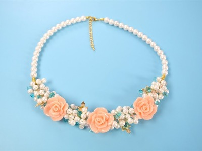 PandaHall Video Tutorial on Acrylic Flower Pearl Necklace for Spring