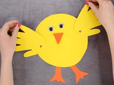 Paper Chick Easter Craft for Kids