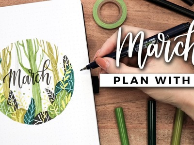 PLAN WITH ME   March 2019 Bullet Journal Setup