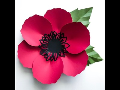 Quick Assembly of Poppy Paper Flower