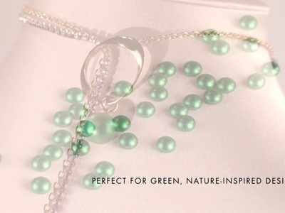 Swarovski's New Crystal Pearl Color: Eden Green! | Fusion Beads