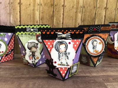 Tutorial Halloween treat boxes with polkadoodles