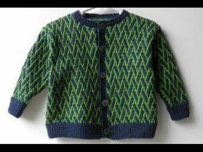 Two colour Sweater Pattern for Handmade Woolen Sweater | Madhu The Knitter