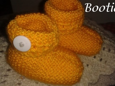 Very easy and cute baby booties