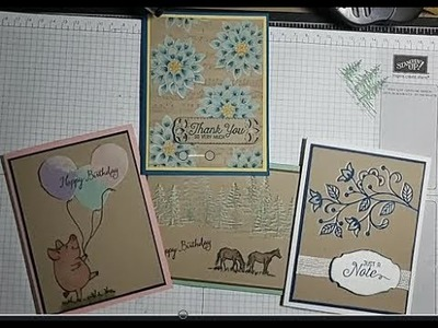 White Pigment Ink Techniques, Stampin' Up!