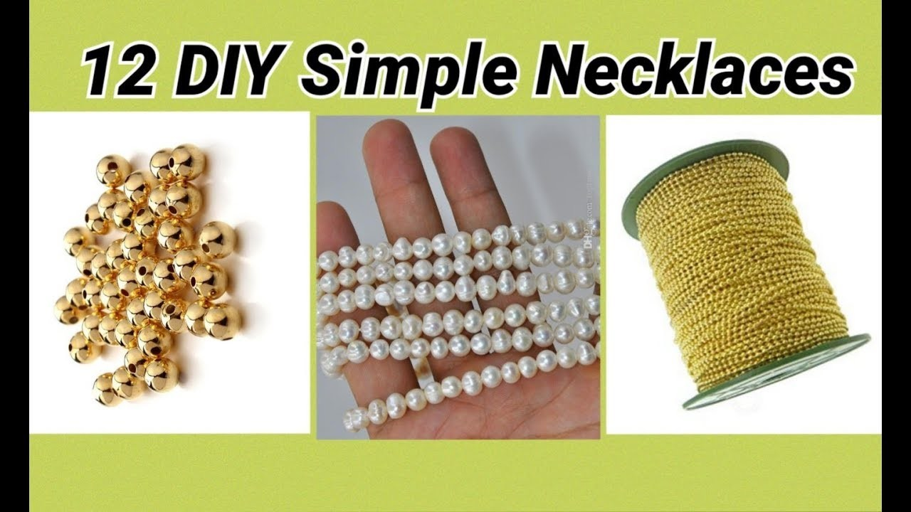 12 DIY Necklaces making with ball chain