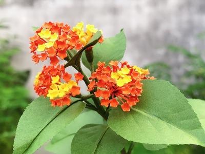 ABC TV | How To Make Lantana Camara Paper Flower | Flower Die Cuts - Craft Tutorial