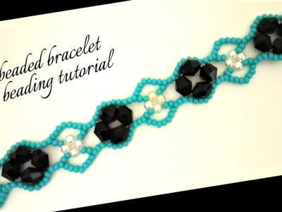 Beading tutorial. How to make a beaded bracelet. Easy beading
