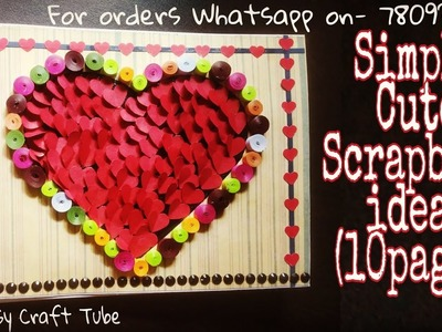 Birthday scrapbook ideas|gift for him\her |Handmade gifts| Rossy craft tube