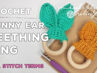 Bunny Ear Teething Ring | Crochet Teether | Simple how to tutorial | Quick crochet project!