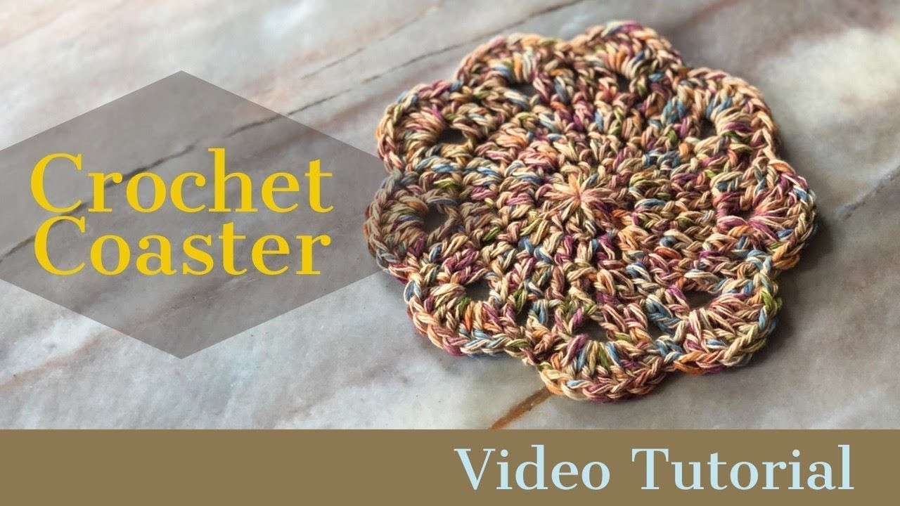 Crochet Coaster Pattern & Tutorial