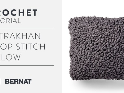 Crochet Loop Stitch Tutorial | Easy Astrakhan Pillow Pattern