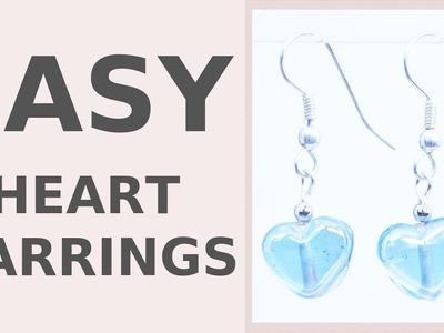 DIY Dangle Hearts Earrings | Wedding Accessories | Iza Beads