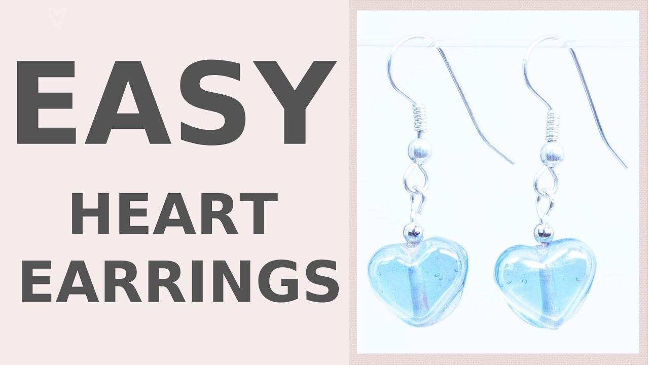 DIY Dangle Hearts Earrings   Wedding Accessories   Iza Beads