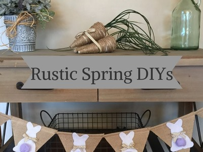 DIY FARMHOUSE AND RUSTIC SPRING AND EASTER DECOR.3 EASY AND AFFORDABLE PROJECTS