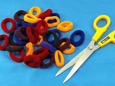 DIY Hair rubber bands craft idea   DIY art and craft   DIY HOME DECO