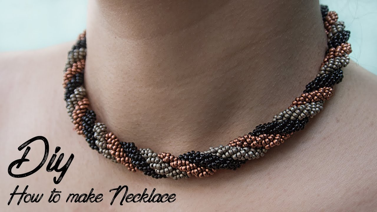 (DIY) HOW TO MAKE NECKLACE | NECKLACE TUTORIAL | JEWERLY MAKING
