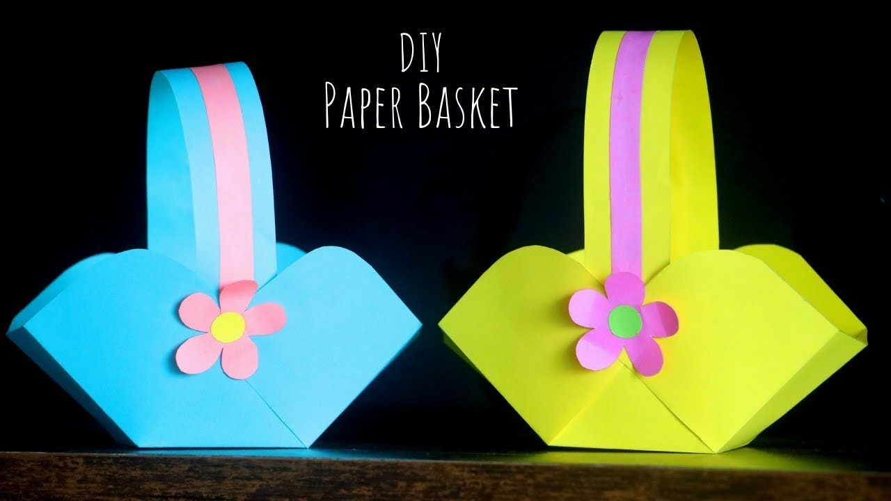 Diy Paper Basket Easy Easter Basket Ideas Paper Craft