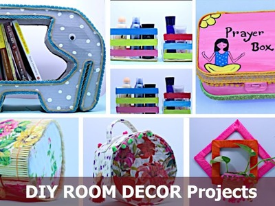 DIY ROOM DECOR Projects | Best Cardboard Box Craft Idea | Easy Craft Ideas for Home by Aloha Crafts