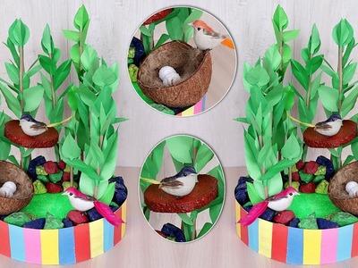 DIY Room Decor !!! Sparrow Nest Making Idea | Handmade Paper Craft