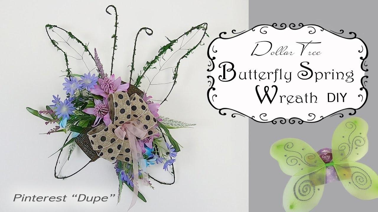 Dollar Tree Spring Butterfly Wreath DIY