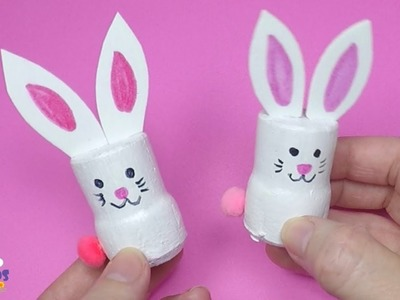 Easter Bunny Cork Craft | Best of Waste Easter Craft