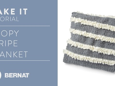 EZ Knitting Without Needles: EZ Loopy Stripes Blanket